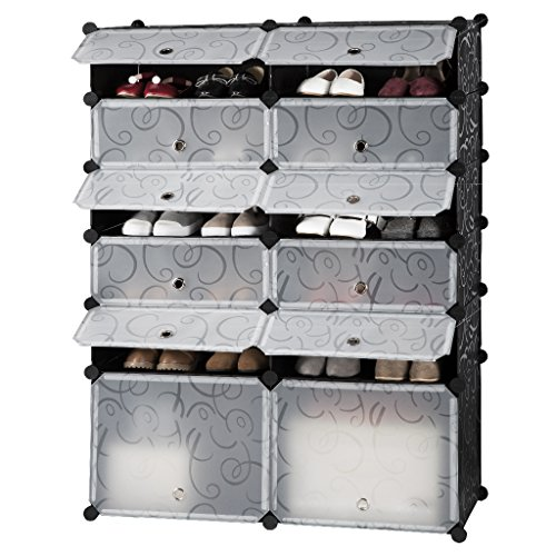 langria zapatero modular diy 12 cubos armario por m dulos 2 cubos grandes 10 cubos. Black Bedroom Furniture Sets. Home Design Ideas
