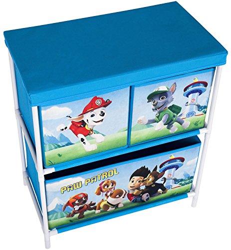 Paw Patrol Azul Chase 2 Tier 3 cajones para niños en el pecho caja ...