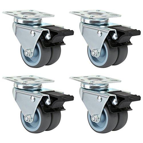 Lihao 4 x ruedas para muebles ruedas silla oficina goma 50 for Ruedas de goma para sillas