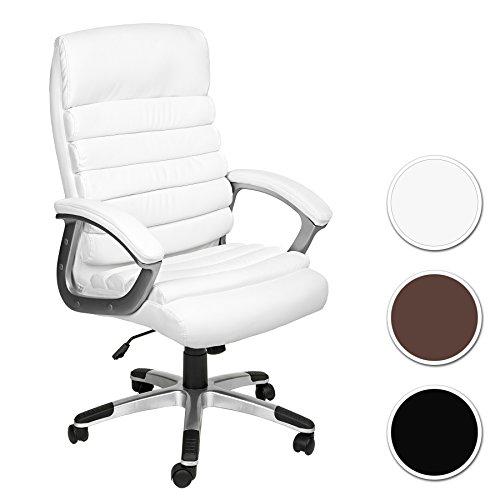 Tectake silla de oficina sillon de despacho ejecutivo con reposabrazos blanco tienda de - Sillas despacho amazon ...